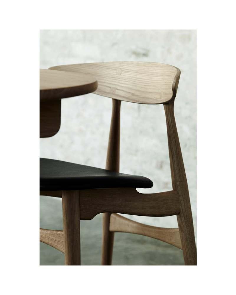 Carl Hansen CH33P tuoli, öljytty tammimusta nahka