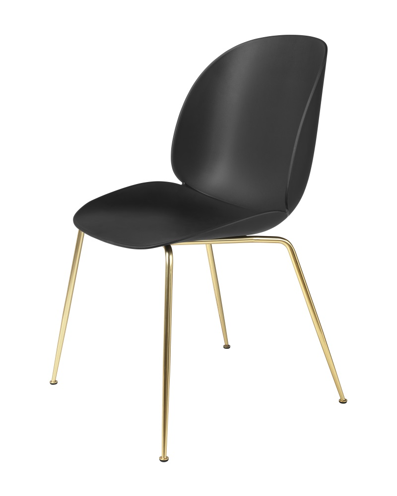 GUBI BEETLE tuoli, verhoilematon, mustamessinki