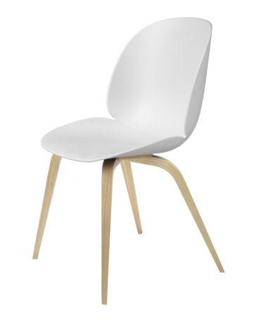 GUBI BEETLE tuoli, ympäriverhoiltu, ruskeapyökkijalka – Nomart